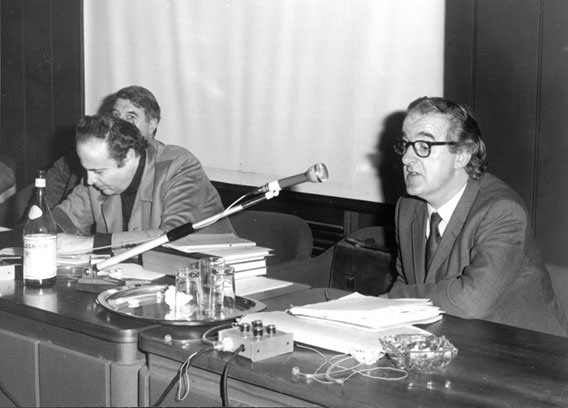 XVII Colloquio Internazionale sul film di Documentazione Sociale (1972). Tullio Seppilli (Festival dei Popoli), James D. Halloran (Centre for Mass Communication Research, University of Leicester)